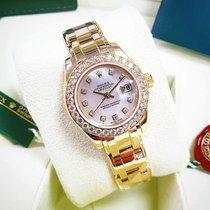 Rolex Lady-Datejust Pearlmaster Sárgaarany 29mm Gyöngyház Számjegyek nélkül