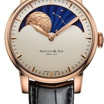Arnold & Son HM Perpetual Moon Rose gold 42mm Champagne