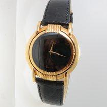 Cyma new Quartz World time watch 33mm Yellow gold Sapphire crystal