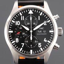IWC Pilot Chronograph Zeljezo 43mm Crn Arapski brojevi