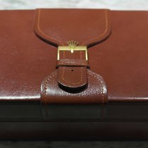 Rolex vintage watch box ref.71.00.04  leather brown for day date