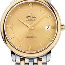 Omega De Ville Prestige Gold/Steel 36.8mm Champagne Roman numerals United States of America, Florida