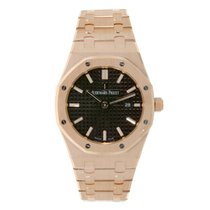 Audemars Piguet Ladies AP Royal Oak 33mm Rose Gold Brown Dial...