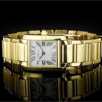 Cartier Tank Française Yellow gold 20mm White Roman numerals