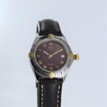 Breitling Callisto Zlato/Zeljezo 34mm Bordo-tamno crven Rimski brojevi