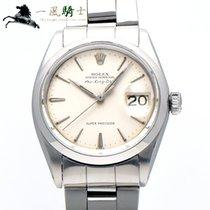 Rolex Air King Date Acier 34mm Argent