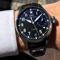 IWC Big Pilot Ocel 46mm Černá Arabské