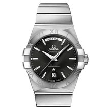 Omega Constellation Day-Date Steel 38mm Black No numerals United States of America, New York, New York