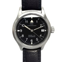 IWC Pilot Mark pre-owned 36mm Black Date Leather