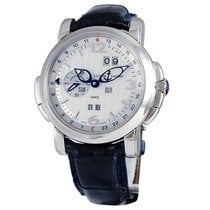 Ulysse Nardin GMT +/- Perpetual White gold 42mm Silver