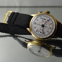 Universal Genève VINTAGE CHRONOGRAPH 18K SOLID GOLD, OVERSIZED...