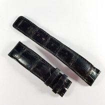 IWC 19-20 / 18mm black alligator leather strap