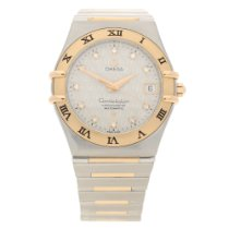 Omega Constellation Gold/Steel 36mm Champagne No numerals