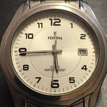 Festina Quartz Titanium Date White Dial/Silver Steel quarz