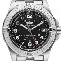 Breitling Colt Stahl Quarz Chronometer Armband Stahl 41mm...