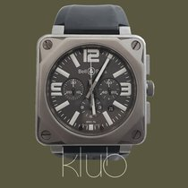 Bell & Ross Titanium Automatic Grey Arabic numerals 46mm pre-owned BR 01-94 Chronographe