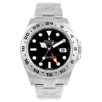 Rolex Explorer Ii Automatic Black Dial Watch 216570 Box Papers...