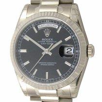 Rolex : Day-Date President :  118239 bksp :  18k White Gold :...