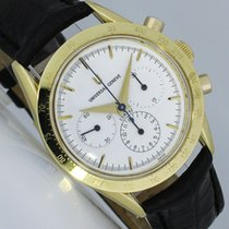 Universal Genève Yellow gold Manual winding White 36mm pre-owned Compax