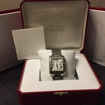 Cartier Tank Anglaise Staal 39,2mm Zilver Romeins