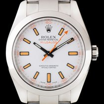 Rolex Milgauss Steel White Dial Gents 116400