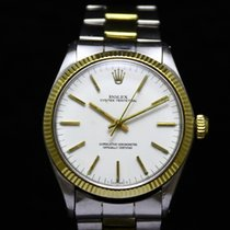 Rolex Two Tone Oyster Perpetual 18K Yellow Gold/Steel