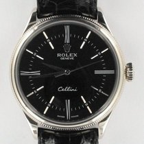 Rolex Cellini Time Oro blanco 39mm Negro