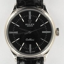 Rolex Cellini Time White gold 39mm Black