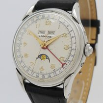 Leonidas 35,5mm Manual winding 1950 pre-owned Silver