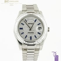 Rolex Day-Date II White gold 41mm No numerals