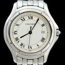 Cartier Cougar Acier 34mm Blanc Romain