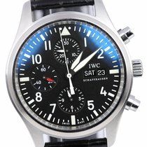 IWC Pilot Chronograph Steel 42mm Black Arabic numerals United States of America, New York, Smithtown