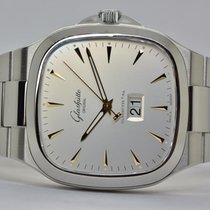 Glashütte Original Chronograph 40mm Automatik 2013 gebraucht Seventies Panoramadatum Silber