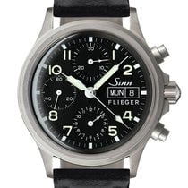 Sinn 356 Steel 38,5mm Black Arabic numerals