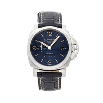 Panerai Luminor 1950 10 Days GMT Staal 44mm Blauw Arabisch