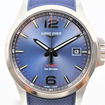 Longines Conquest Steel 43mm Blue Arabic numerals