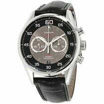 TAG Heuer Steel Automatic Black 43mm pre-owned Carrera Calibre 36