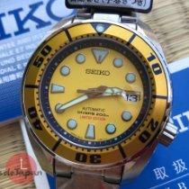 Seiko Prospex Aço 45mm Amarelo Sem números