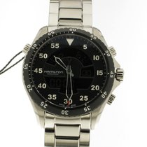 Hamilton Khaki Flight Timer Steel 40mm Black Arabic numerals