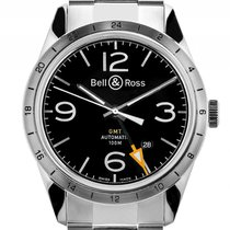Bell & Ross BR 123 GMT 24H Stahl Automatik Armband Stahl 42mm