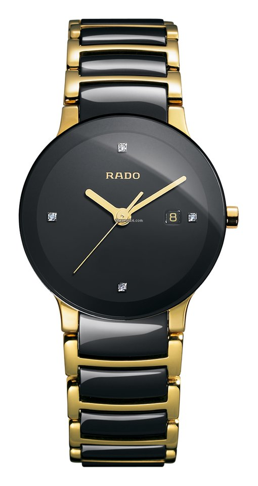 Rado Centrix Diamonds schwarz Datum Edelstahl/PVD Keramik -NEU-
