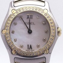Ebel Classic Wave Ladies Watch Stainless Steel And Gold Quartz...