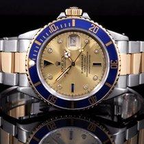 Rolex 16803 Two tone Submariner Date, Champagne Diamond Serti...