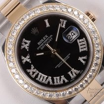 Rolex Datejust II 116333 41mm Watch-Diamond Roman Black...