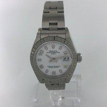 Rolex Ladies Datejust Steel Oyster Bracelet White Roman Dial...