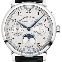 A. Lange & Söhne White gold Manual winding Silver 40mm new 1815