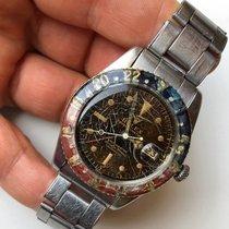 Rolex GMT-Master Ref. 6542 Tropical Gilt Dial Vintage Rare Steel