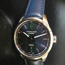 Hamilton Broadway H43515641 HAMILTON BROADWAY Acciaio Blu Verde Pelle 42mm nouveau