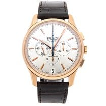 Zenith Captain Chronograph pre-owned 42mm Silver Chronograph Date Crocodile skin