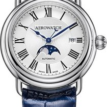 Aerowatch 1942 Steel 42mm White Roman numerals